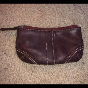 Red coach coin wallet